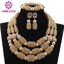 Lujo Champagne Perlas de Boda Cristalino de La Joyería Nupcial Oro Dubai WD617 Inspiración Partido Accesorio de La Joyería Envío Gratis