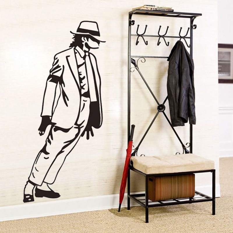 2016 Mural Michael Jackson Vinyl Wall Sticker For Kids Rooms For Boys Girls  Gift Nursery Bedroom Decals Decor Drop Shipping
