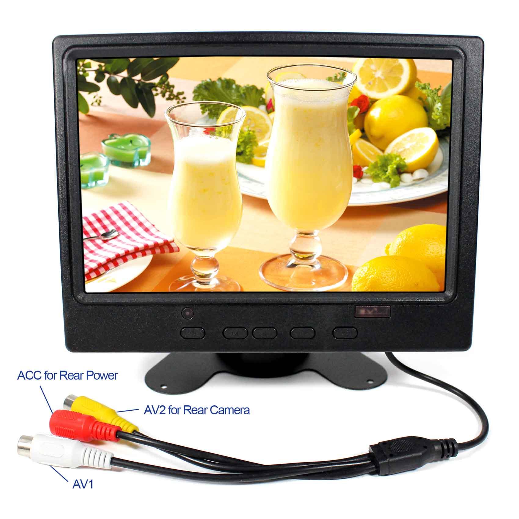 7 colių 1280x800 IPS LCD monitorius HDMI + VGA + 2AV atbuline eiga su JAV maitinimo adapteriu