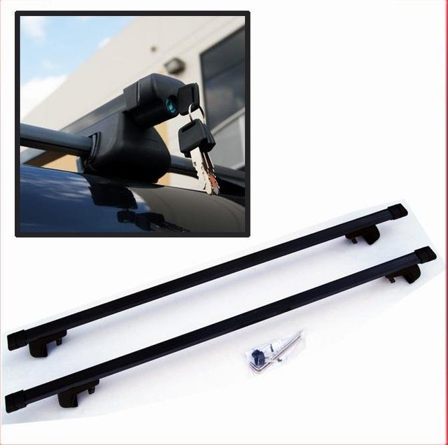 New ! Locked Roof Rack Luggage Carrier Cross Bars For