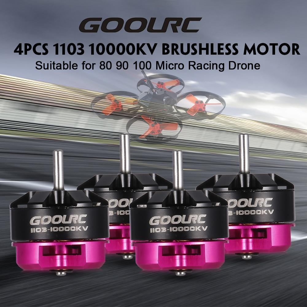 GoolRC 4PCS 1103 10000KV 1104 8700KV 2S Brushless Motor CW CCW for 80 90 100 Tiny Micro FPV Racing Drone Quadcopter eplutus ep 1104 в тамбове