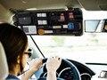 Auto Fastener Acessórios Car Veículos Pala de Sol óculos de Sol Veículo Carro Viseira Placa De Armazenamento Organizador cosméticos Saco Ticket Holder Clip