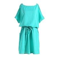 Plus Size 5XL Summer Women Ladies Casual Dress Short Sleeve Back Lace Dress Floral Chiffon Mini Dress T55