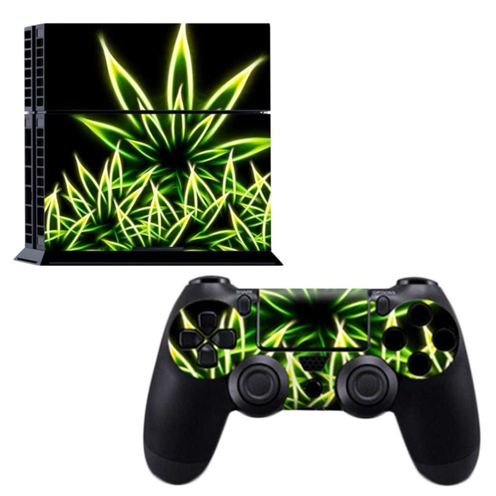 Beautiful Fashion Multiple Patterns Vinyl Sticker Skin Cover for PS4 Console & Controller For Sony PlayStation4 Game Controller