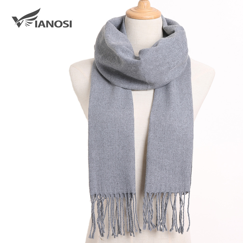 [VIANOSI] 2019 Winter Classic Plaid Scarf Men Foulard Solid Scarves Fashion Casual Scarfs Cashmere Bufandas Hombre