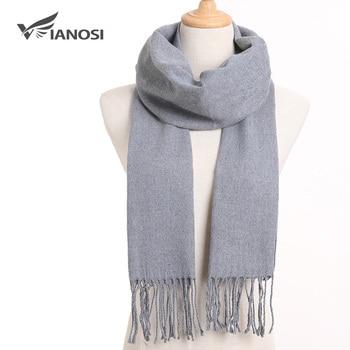 [VIANOSI] Winter Classic Plaid Scarf Women Men Foulard Solid Scarves Fashion Casual Wrap Cashmere Bufandas Hombre