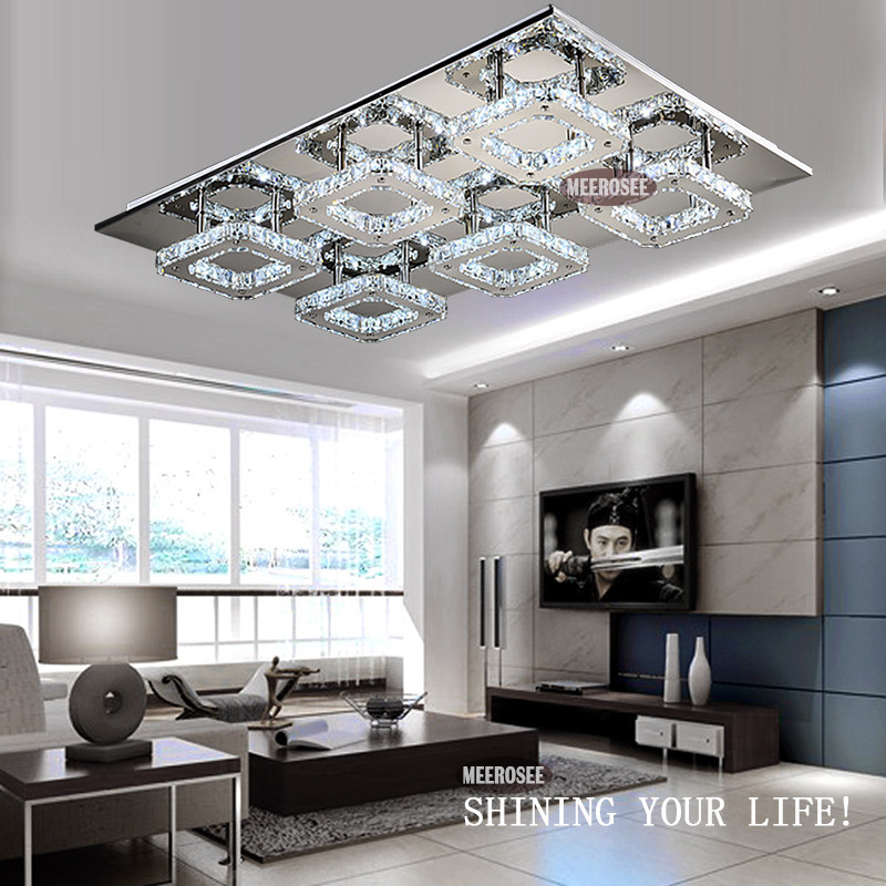 Square LED Crystal Light Ceiling Lighting Fixture Surface Mounted - Square kitchen light fixtures