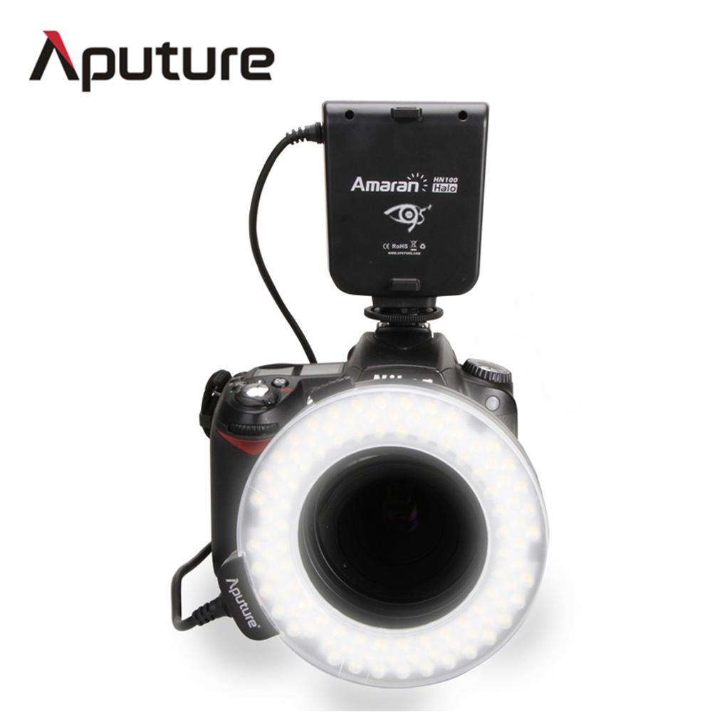 Prix pour Aputure HN100 CRI 95 + Amaran Halo LED Flash Annulaire lumière Pour Nikon D7100 D7000 D5200 D5100 D800E D800 D700 D600 D90 Caméra