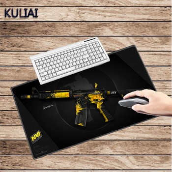 XGZ Cool Black Gamer Mouse Pad Desktop Keyboard Pad CS GO Gun Game Notebook 300X700X2MM for N7 Rainbow Six Siege Witcher Mats фото