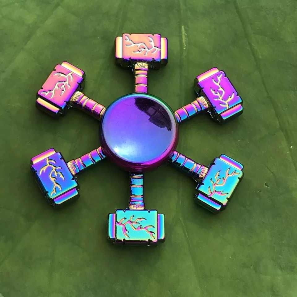 สังกะสีอัลลอยด์ใหม่สีสันร้อนล้อ Gyro & Hand Spinner และ Fidget Spinner & Anti-ความวิตกกังวลของเล่น Spinners focus ช่วยลดความเครียด