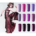 Hot Sale Healthy and Eco-friendly12Color Purpie Series Gel Nail Polish Soak Off Gel Lucky UV Nail Varnish Free Shipping Gouserva