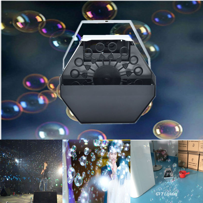 Professional 60W 1.2L Bubble Machine Automatic Bubble Machine With High Output Remote Control For Wedding Party Stage Effect