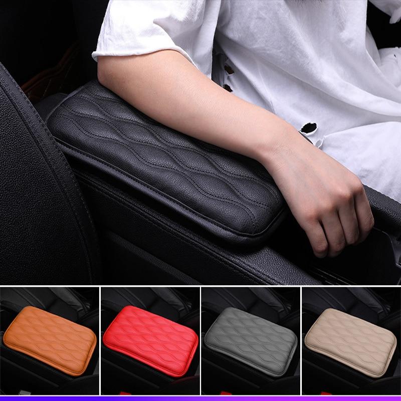 30*20 Cm Lederen Auto Console Armsteun Pad Cover Voor Infiniti Buick Peugeot 307 206 407 3008 308 Seat Leon Lexus Chery Saab