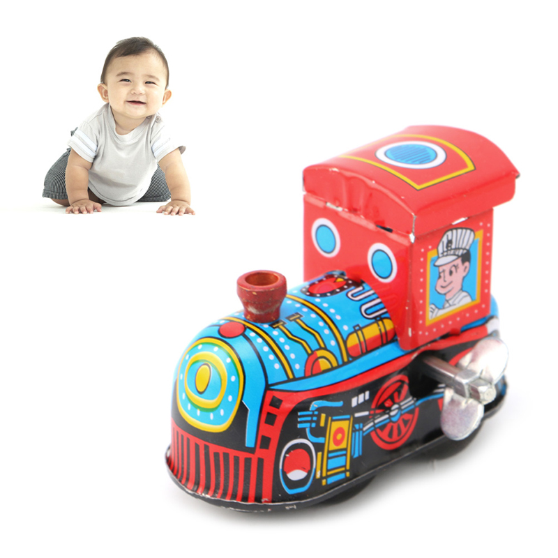 Rétro Train à vapeur réminiscence enfants Vintage étain jouet horloge jouets cadeau W15