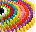 Красочная детская радуга образованных домино блок. Дети цвет признаны деревянные игрушки, 120 шт./лот