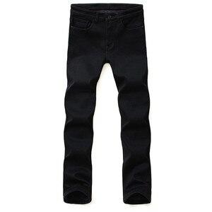 Image 2 - Nhãn hiệu Quần Jean Quần Người Đàn Ông Quần Áo Màu Đen Đàn Hồi Skinny Jeans Kinh Doanh Bình Thường Nam Denim Mỏng Quần Phong Cách Cổ Điển 2018 New