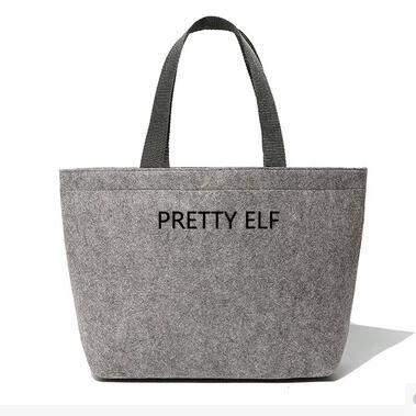 New Arrival Lunch Bag Simple Gray Portable Felt Pouch Storage Box For Women Men Picnic Tote High Quality Tote ...