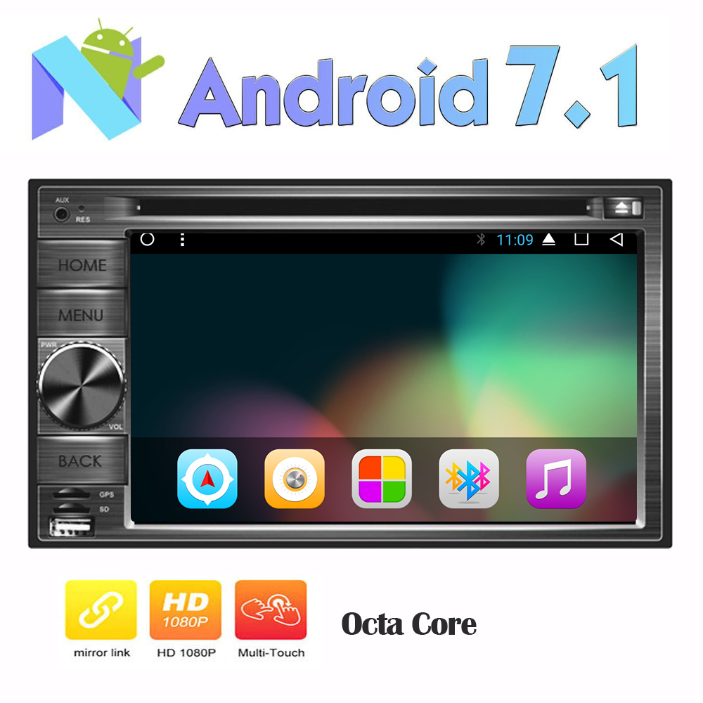 Android 7.1 Car GPS Stereo 8 Core In Dash Radio FM/AM