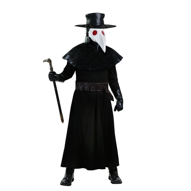 The Scariest Adult Medieval Black Death Plague Doctor Costume For
