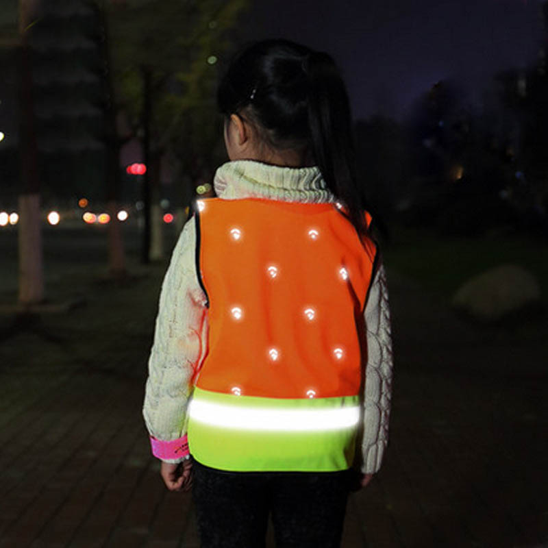 Children High Visibility Reflective Warning Vest For Running Cycling Outdoor Vest Harness Reflective Belt Safety Jacket