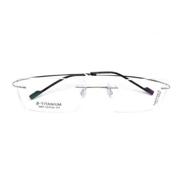 eb3bd9e4f26 Titanium Eyeglasses Rimless Optical Ultralight Glasses Frame No Screw  Prescription Spectacle Frameless Glasses Eyeglasses B2