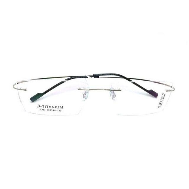 086f260196 Titanium Eyeglasses Rimless Optical Ultralight Glasses Frame No Screw Prescription  Spectacle Frameless Glasses Eyeglasses B2