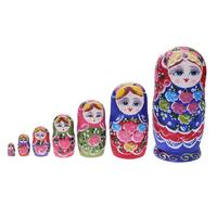 Kids Wooden Matryoshka Dolls Toys Russian Nesting Dolls Best Wishes Kids Xmas New Year Gift Handmade Crafts For Children