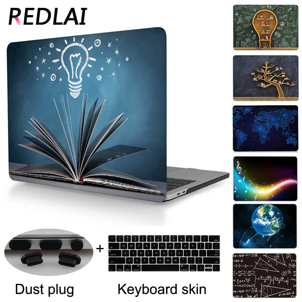 Redlai Printed Hard Cover case For Macbook Pro 13 retina with Touch bar A1706 witout touchbar A1708 Pro 15 A1707 2016 Release enkay matte hard protective case for macbook pro 13 3 light blue