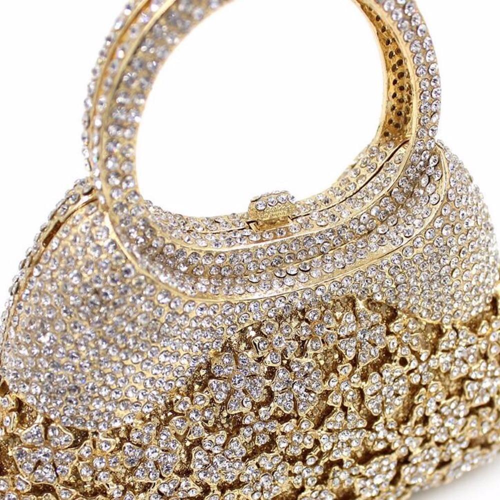 Dîner Gemme Luxe Soirée Cristal Gold En Embrayage Coloré Pierre Main Femmes Sacs Diamante De Mariage Bourse À Parti Bl039 qvRa11