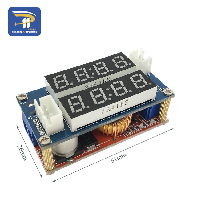 2 in 1 XL4015 5A Adjustable Power CC/CV Step-down Charge Module LED Driver Voltmeter Ammeter Constant current constant voltage