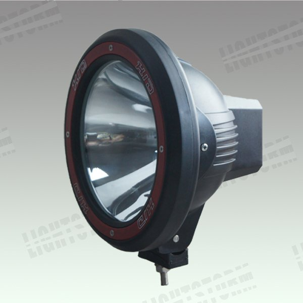 """Red/Black ring 55w hid driving light,auxiliary lamp for fire engine,ambulance,beach-buggy.7""""hid off road driving lamp,fog light"""