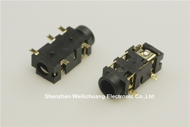 10pcs 1  8 U0026quot  Phone Jack 3 5 Mm 5 Contacts 3 Conductors Trs Audio Stereo Socket Smd Re Flow Solder