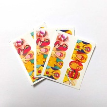 3pcs Water Nail Decal and Sticker Sexy lips Simple Summer Slider for Manicure Art Watermark Tips C02