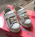 2016 del otoño del resorte niños zapatillas de deporte de moda los niños de la pu de cuero zapatillas chicos negro piso girls sport shoes niño running shoes