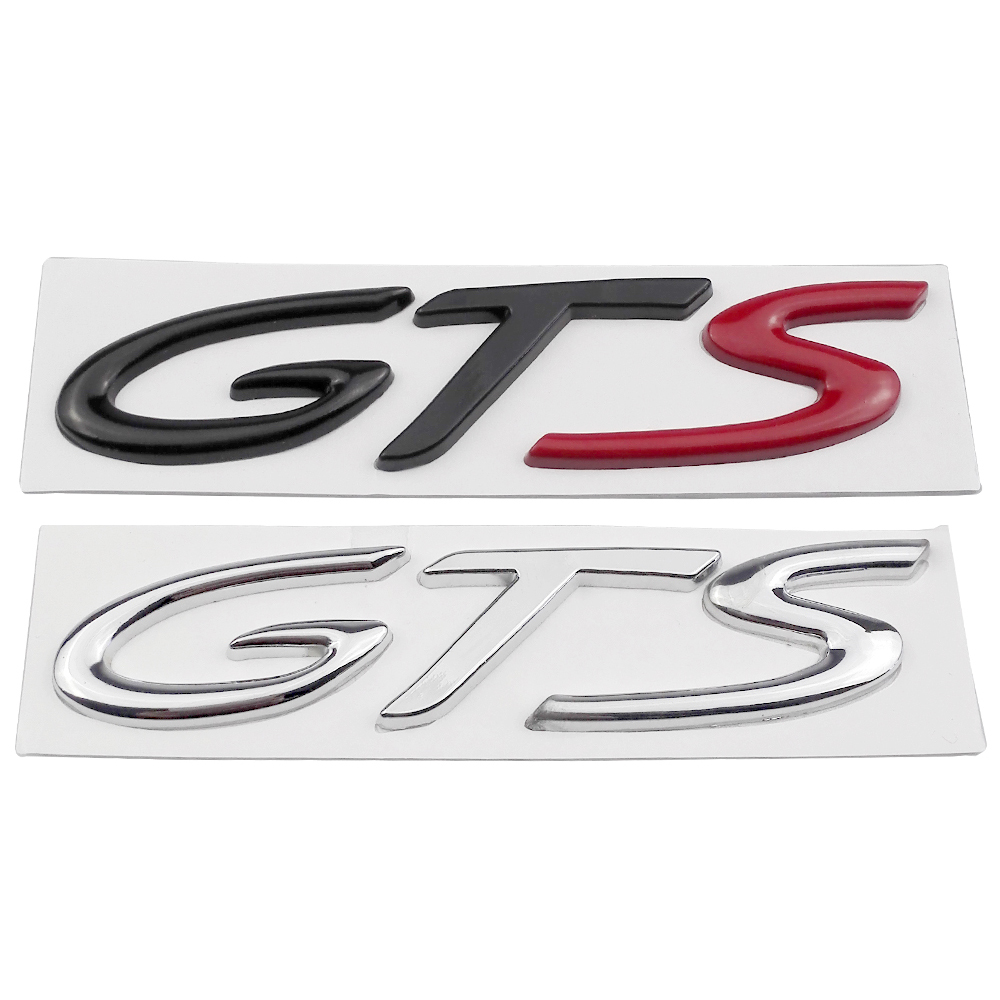 Black Glossy Rear Letters Badge emblem Sticker Turbo For 2011 Porsche Cayenne