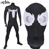 High Quality Venom Costume Black Spiderman Spandex Suit Adult For Halloween Party 3D Print Venom Spiderman