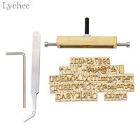 Lychee 1pc Leather Stamping Mold DIY Word Punch Tool Template Cutter Laser Cut Alphabet Mould Mold