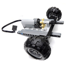 Technic Car Front Suspension Steering System Parts Sets with Electric Power Functions Servo Motor & Wheels Toys Bulk Set