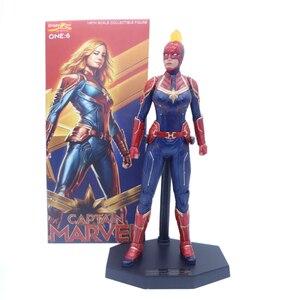 Image 4 - 28cm Crazy Toys Marvel Avengers Super Hero Captain Marvel Statue PVC Action Figure Collectible Model Toy