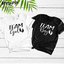 055cc3c4 TEAM GIRL BOY friends husband and women couple t shirt lovers funny letter  white tee shirt