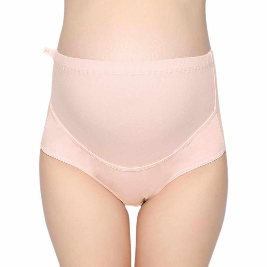 Bragas de cintura alta de mujer rayas sólidas sin costuras suave cuidado Abdomen ropa interior íntima bragas embarazadas bragas de maternidad