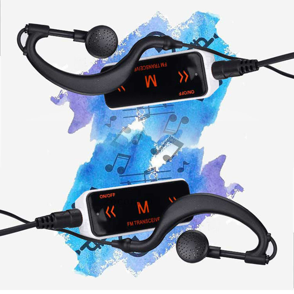 A pair(2pcs)  FM Radio+Soft Earphone 400-470MHZ wireless intercom motorcycle helmet headset bt interphone 2 pcs v8 motorcycle helmet intercom wireless headset bt interphone with fm nfc remote controller for 5 rirder talk at same time