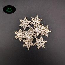 זירקון קסמי להכנת תכשיטים קריסטל קסמי 10pcs כוכב קסם תליון פתית שלג קסמי לנשים יפה זירקונים קסמי