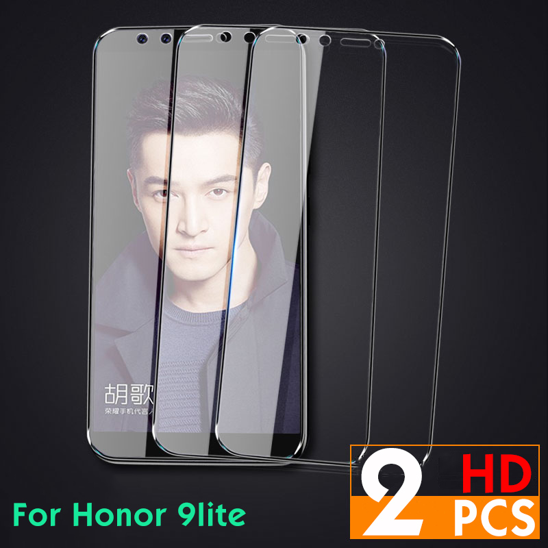 2PCS Tempered Glass For Huawei P 10 20 lite Screen Protector Honor 8 9 Protective On