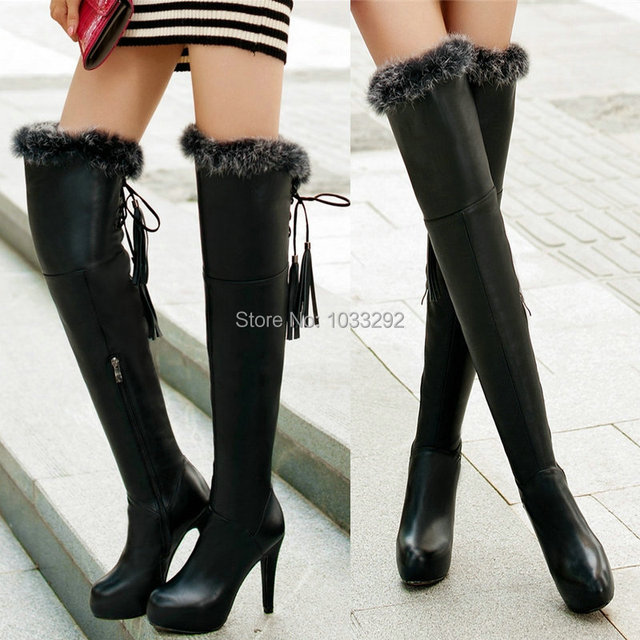 Sexy fur boots