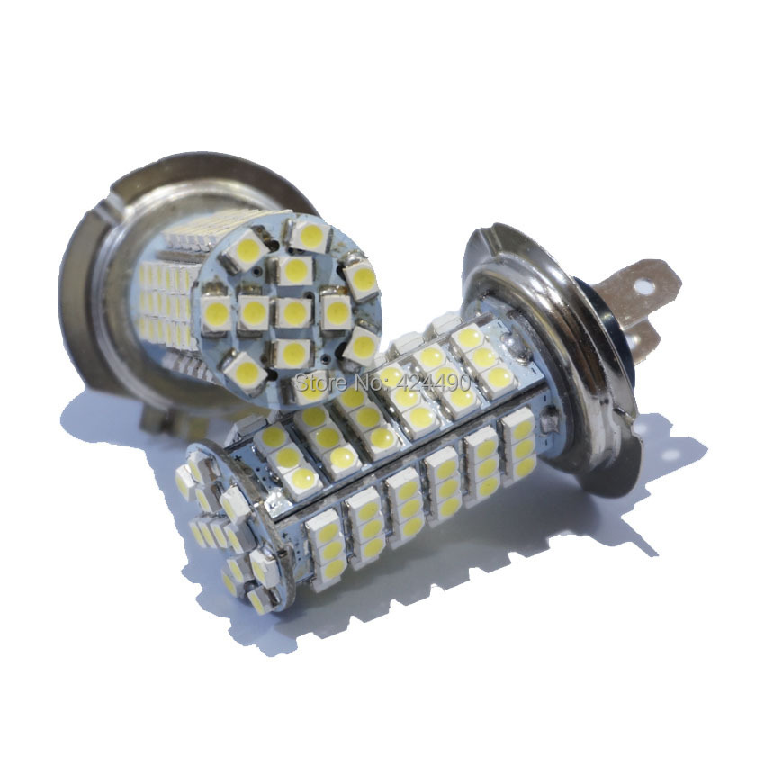 2pcs/lot New  H7 LED 3528 102 SMD Cool White Headlight Bulb Car Head Light  fog light 12V DC цена и фото