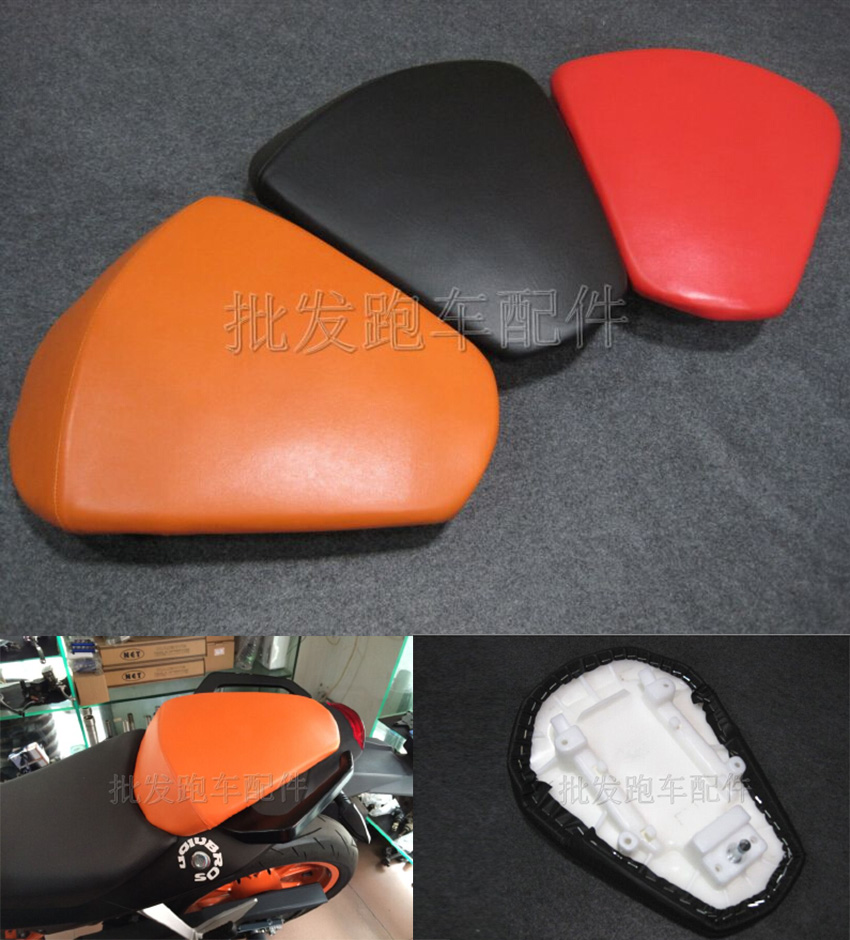 High Quality Motorcycle Leather Passenger Seat Cushion