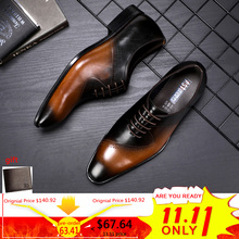 hot deal buy men's leather casual shoes mens breathable genuine leather shoes men formal casual lace-up oxford shoes for men big size 10.5