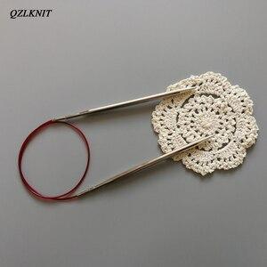 Image 3 - QZLKNIT 100cm,80cm y 60cm tubo de Nylon de alta calidad conjunto de agujas de tejer circulares intercambiables hilo DIY accesorios de punto