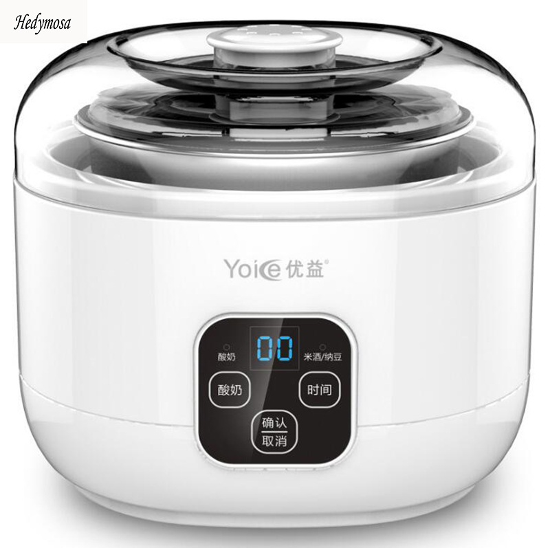 Multifunktions Joghurt Makers Reis Wein Natto 220V Voll Automatische LCD Touch Schalter 304 Edelstahl Mikrocomputer Timing